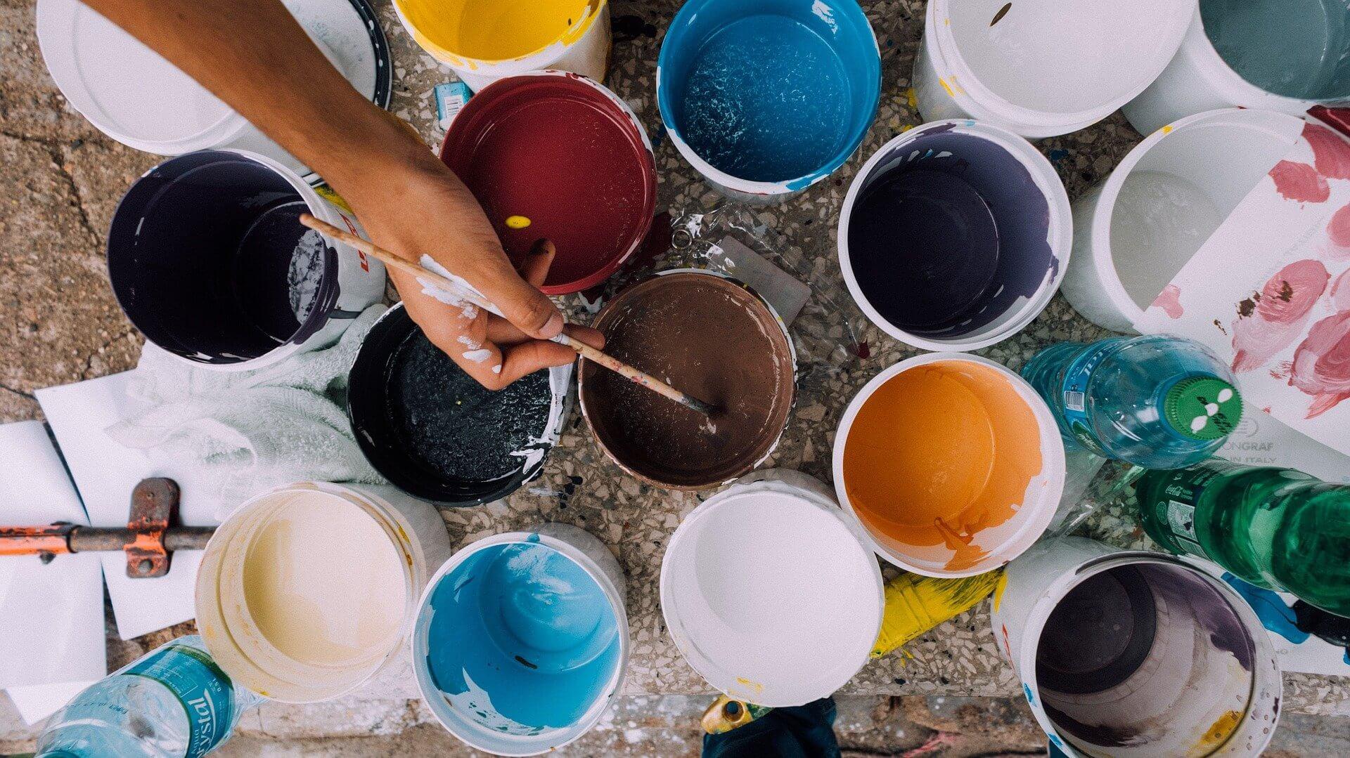 la peinture à la craie